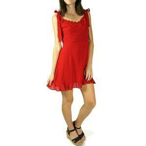 Reformation Christine Mini Dress Red Size 8